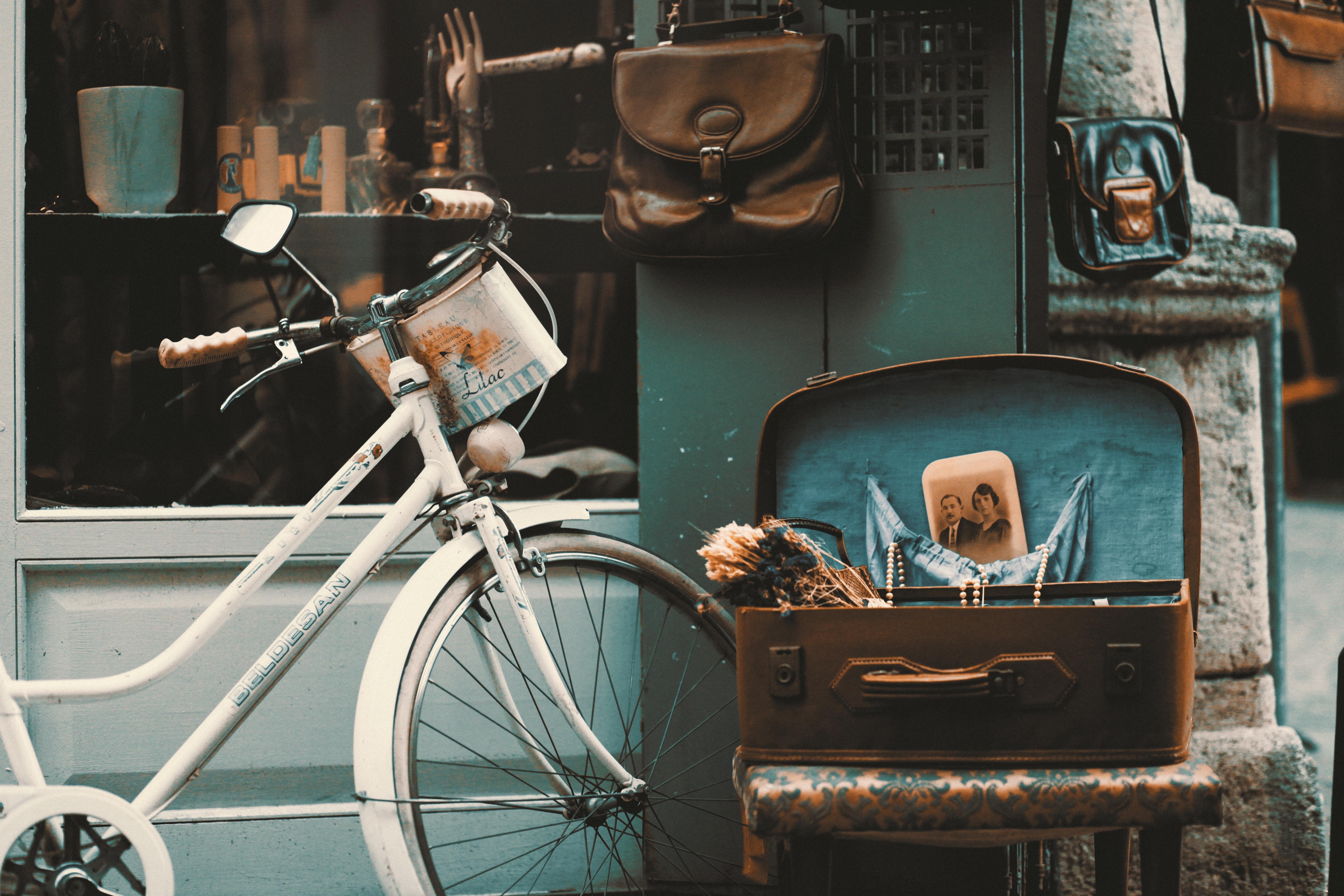 Thrift shop with bike