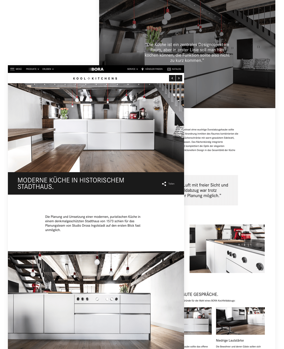 BORA Kool Kitchens Screens