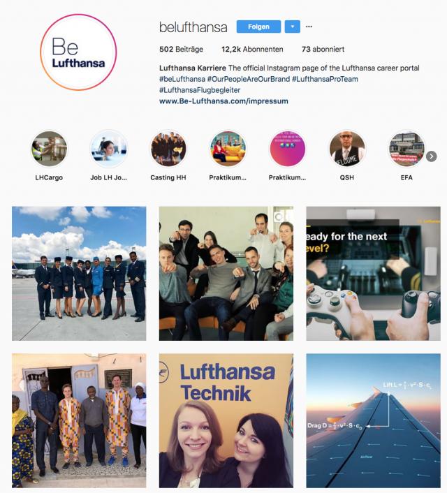 Lufthansa Instagram Overview